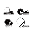 A set of logos emblems of joiners tools vector image