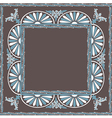 frame pattern blue white vector image vector image