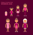 Women age Life cycle Different generations of vector image