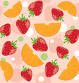 abstract background with strawberry and oranges vector image