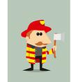 Cartoon fireman vector image