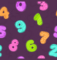 cute childish seamless pattern with colorful vector image
