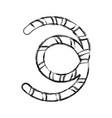 fishing worm isolated vector image