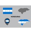 Map of Honduras and symbol vector image