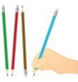 pencil writing vector image