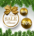 Sale round christmas balls vector image