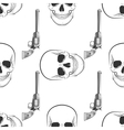 skull and Revolver pattern vector image