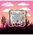 vacations in family design vector image