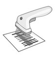 Barcode scanner icon gray monochrome style vector image