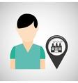 indrustrial building pin location man design vector image