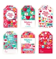 Valentines Day Gift Tag Labels vector image
