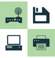 computer icons set collection of diskette vector image