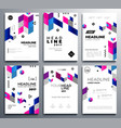 presentation booklet covers - template pages set vector image vector image