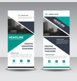 green black triangle corporate business roll up vector image