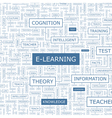 E LEARNING vector image vector image