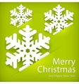 Paper snowflakes on green vector image