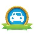 Gold car logo vector image