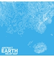 abstract earth relief map vector image