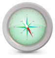 metal compass vector image
