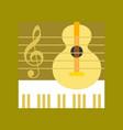 flat icon on stylish background music lesson vector image