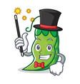magician peas mascot cartoon style vector image