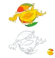 painted with splashes of fruit juice vector image