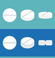 pill icons set flat design vector image