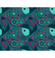seamless pattern with beautiful hand drawn vector image