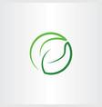 leaf green eco symbol logo icon circle vector image