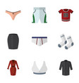 flat icon garment set of clothes foot textile t vector image