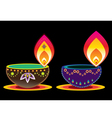 Abstract flame in bowl vector image