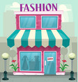 cartoon fashion shop building in isolated with vector image vector image