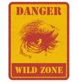 warning sign danger signal with gorilla eps 8 vector image