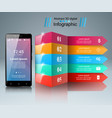 3d infographic smartphone icon vector image