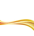 Golden abstract swoosh speed modern wave vector image