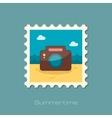 Photo Camera flat stamp vector image