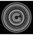 Geometric retro pattern for monogram or emblem vector image
