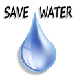 Save water vector image vector image
