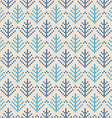 Christmas Scandinavian flat style white and blue vector image