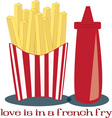 French Fry Love vector image