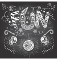 Fun hand-lettering typography on chalkboard vector image