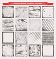 grunge square frames backgrounds textures vector image