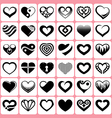 Heart icons set vector image