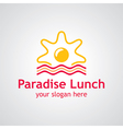 paradise lunch logo vector image
