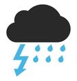 Thunderstorm Flat Pictogram vector image