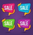 collection of sale labels price tags bannesr vector image