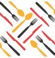 kitchen cutlery tools icons vector image