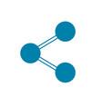 silhouette social media share technology vector image