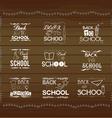 Vintage back to school card Wooden background vector image vector image