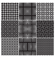 monochrome patterns vector image